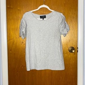 Banana Republic Women's Grey Tee with Knot Details